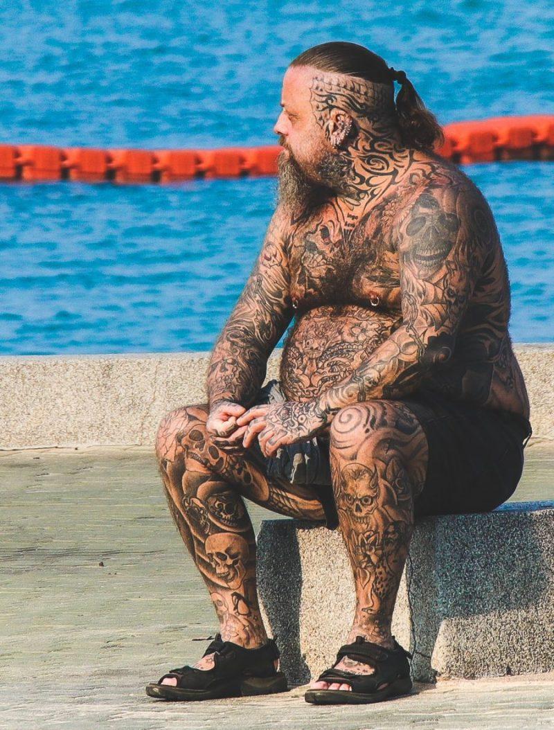 tatooed man